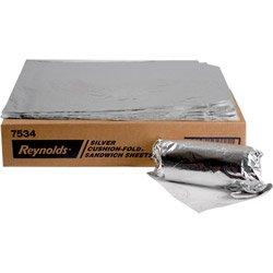 Wraps Foil Plain (Reynolds Wrap 7534 Cushion-Fold Plain Foil Wrap Sheets, 14 x 16, Silver (Case of 1000))
