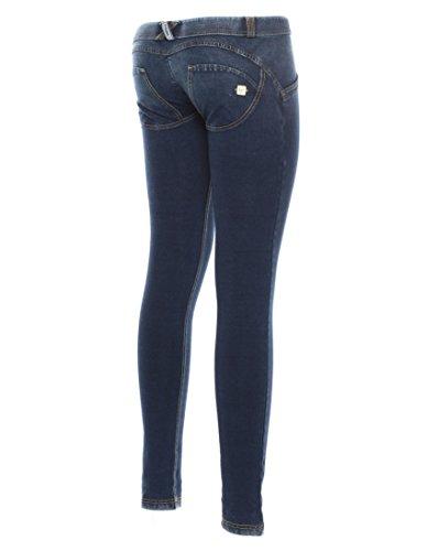 Pantalón WR.Up® Shaping Effect–Profundidad cintura Denim de efecto oscuro Waffle Mod. wrup1lw5e, Mezclilla Azul, S Mezclilla Azul