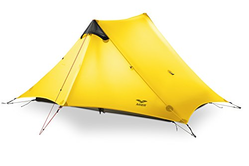 MIER Ultralight Tent 3-Season Backpacking Tent for 1-Person...