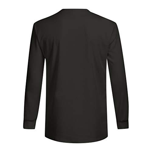 Lâche Longues Taille Basique Grande Chemises Top Tee Chemise Sweat T Unie Polo Pull Noir shirt Winjin À Shirt Fit shirt Slim Tunique Homme Casual Manches Blouses Haut qxzZICwPC