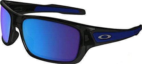 Oakley Boys' Turbine Xs Non-Polarized Iridium Rectangular Sunglasses, Black Ink, 57 mm