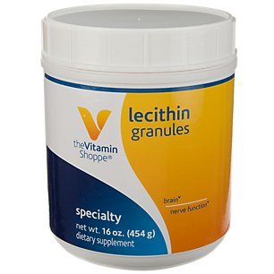 Lecithin Granules Natural Combination of Essential Fatty Acids to Support Brain Nerve Function, 100 Soy Based, Once Daily (16 Ounces Powder) by The Vitamin -
