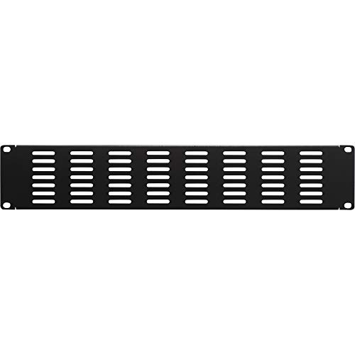 NavePoint 2U Blank Rack Mount Panel IT Server Network Spacer Slotted - 2u Panel Slotted