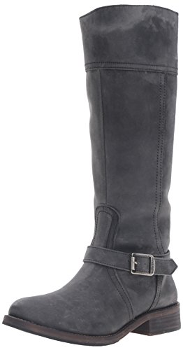 Leather Gray Boots - Wolverine 1883 Women's Margo Riding Boot, Grey, 9 M US