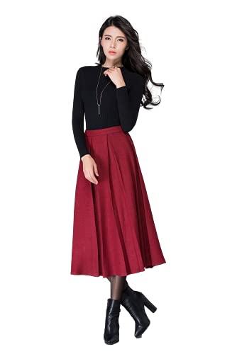 GG Fashion Women's T-Shirt Knee Length Dress (GG 1_Red_Small)