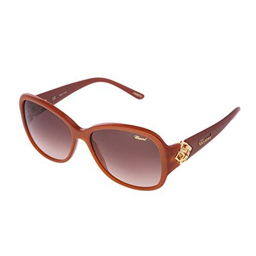 Chopard Imperiale SCH 131 Women Brown & Gold Precious Jeweled Fashion Designer Eyewear Sunglasses ()