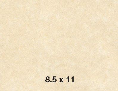 Parchment Paper Text 24lb/60lb, Size 8.5 X 11 Inches, 500 Sheets Per Pack (Natural)