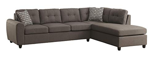 Coaster Home Furnishings Living Room Sectional Sofa, Grey