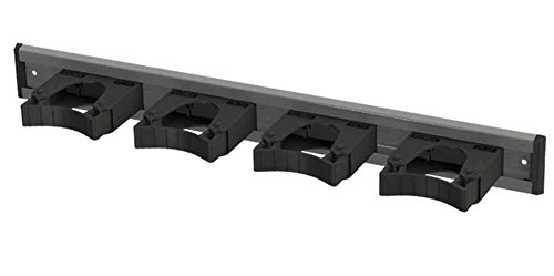 Toolflex Aluminum Rail 50cm (20'') with 4 Mounted Tool Holders Black 5-0040-1 by Toolflex