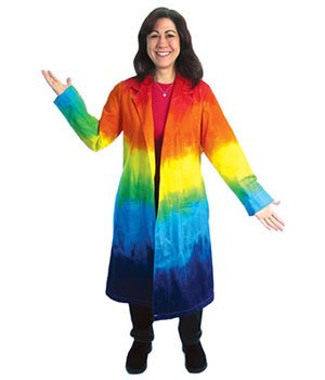 Tie-Dye Lab Coat (XXX-large) (Dye Tie Lab Coat)