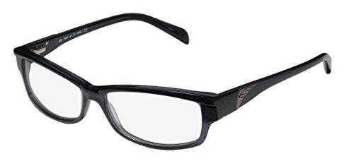 Smith Optics Tiptoe Womens/Ladies Designer Full-rim Flexible Hinges Eyeglasses/Eye Glasses (53-14-135, Black / Transparent Gray)