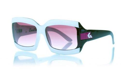 Gatorz Emilia - Black-White Frame, Merlot Fade Lens Sunglasses EMIBWH19F_BWH