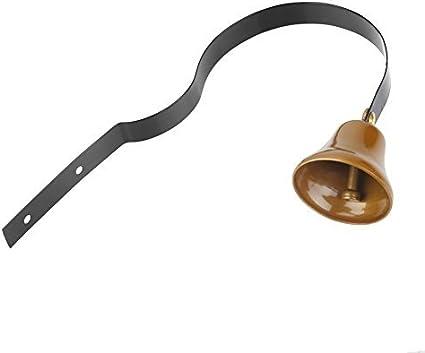 Campana para Puerta de Entrada Campana Tradicional Estilo Vintage Campana Colgante Timbre de Puerta Metal para Decoración de Hogar Casa