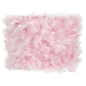 Feather Drum Lamp Shade Color: Pink