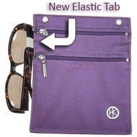 EMF//RFID Large with Elastic Loop Double Zipper HipKlip Black Faux Leather