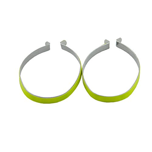 Bicycle Clip - High Reflective Trouser Pant Safety Metal Clips,Pant Leg Cuff Clips Bike Bicycle 1 pair