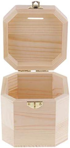 ジュエリー 収納 収納ケース ウッド 貯金箱 八角形 ふた付き クラシック クラフト用品
