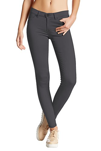 Womens Super Stretch Comfy Skinny Pants P44876SKX Charcoal 3X
