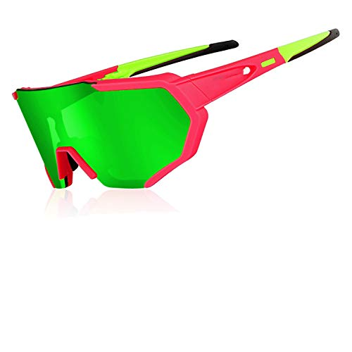2019 New Design Polarized Cycling Glasses For Man Women Bike Eyewear Cycling Sunglasses 4 Lens Mirrored UV400 Goggles,As Picture ()