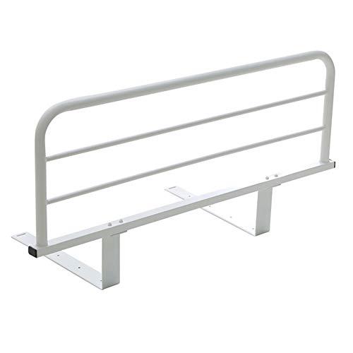 LIQICAI Bed Assist Rail, Bed Rail Guard Bedside Standing Bar for Seniors, Elderly, Handicap, Kid, Adult, Iron Frame, 8 Sizes (Color : White, Size : 120x20cm)