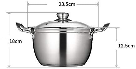 LXUA Pot De SoupeMarmite à Soupe en Acier Inoxydable Petite Cuisinière Induction ConvientConvient pour La Cuisine à Domicile