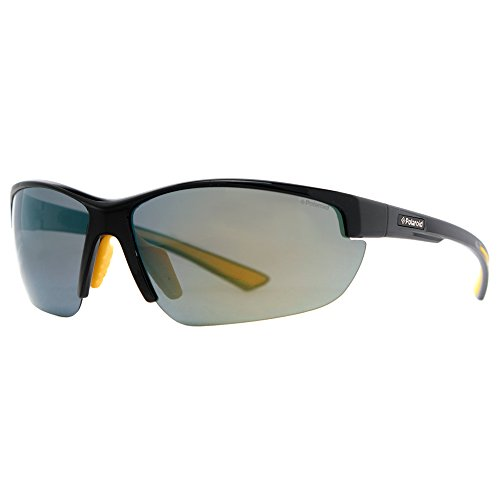 Polaroid P7409s Polarized Wrap Sunglasses,Black Yellow,74 - Prescription Glasses Polaroid