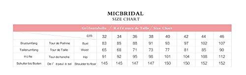 MicBridal - Vestido - trapecio - para mujer Champagner