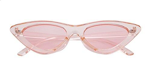 sol retro niñas de vintage 1 de Rosa gafas Lente Gafas de Marco estilo ADEWU ojo Gafas Transparente protección de Rosa sol de para gato Kurt mujeres Cobain AOaTvAUqw