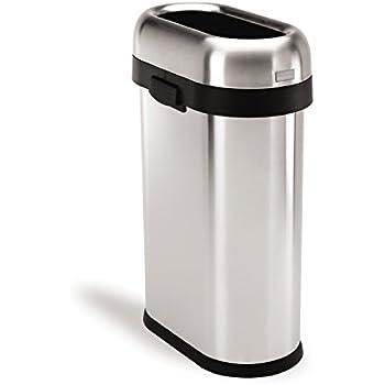 Amazon Com Simplehuman Slim Open Trash Can Commercial
