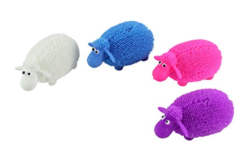 Curious Minds Busy Bags 4 Puffer Sheep - Small Novelty Toy - Party Favors - Easter Gift ()