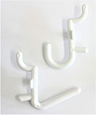 """4 Inch White Plastic Peg Hooks For 1//8/"""" to 1//4/"""" Pegboard or Slatwall 50 PACK"""