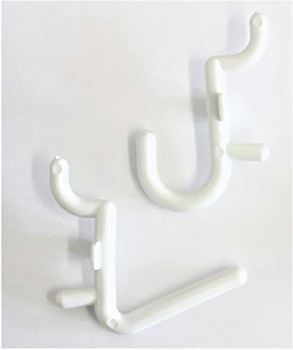 WallPeg 100 pk. Pegboard Hooks - 50 L , 50 J Flex Lock Pegs for Pegboard Tool Organizer - AM 116 B