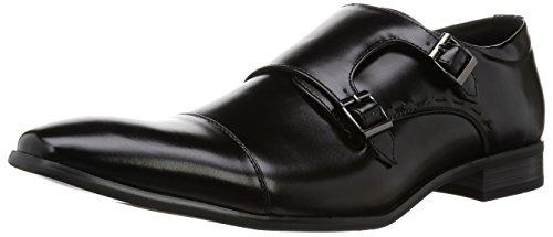 Mm / One Heren Dubbele Monkstrap Schoenen Oxford Kingsize Groot Formaat Traagschuim Binnenzool Schoenen Zwart Donker Bruin Zwart