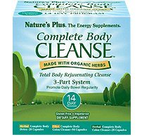 (Natures Plus Complete Body Cleanse Kit - 14 Day Cleanse, 140 Vegetarian Capsules - Herbal Body Detox & Colon Cleanse for Weight Loss, Energy Booster - Organic, Gluten Free - 42 Servings)