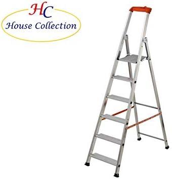 Escalera plegable de aluminio de House Collection, 7 peldaños: Amazon.es: Jardín