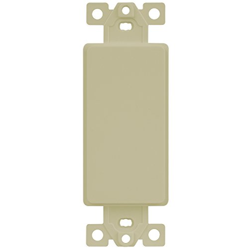 (ENERLITES Blank Decorator Wall Plate Insert, 1 Gang Blank Adapter, Polycarbonate Thermoplastic, UL Listed, 6001-I, Ivory )