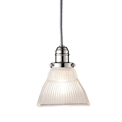 (Hudson Valley 3101-PN-45F, Vintage Cone Pendant, 1 Light, Nickel)