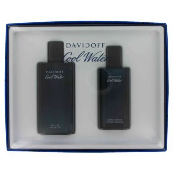 Cool Water for Men Gift Set - 4.2 oz EDT Spray + 2.5 oz Aftershave Splash