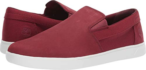 Timberland Men's Groveton Slip-On Burgundy Nubuck 13 D - Red Timberland Shoes