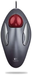 Red//Silver Large trackball impro Logitech Sold as 1 EA High-precision trackball features a comfortable thumb-controlled design that is ideal for extended right-handed or left-handed use Trackball Inc Products Right//Left Hand Customizable Buttons