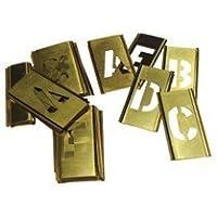 CH Hanson 10034 4 Brass 33 Piece Single Letter Set by CH Hanson