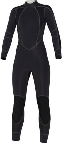 Bare Womens 5 mm Elastek Full Wetsuit ブラック 10 Tall