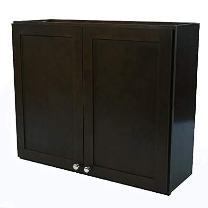 Amazon Com Vima W4230 42 X 30 Espresso Wall Cabinet Home Kitchen