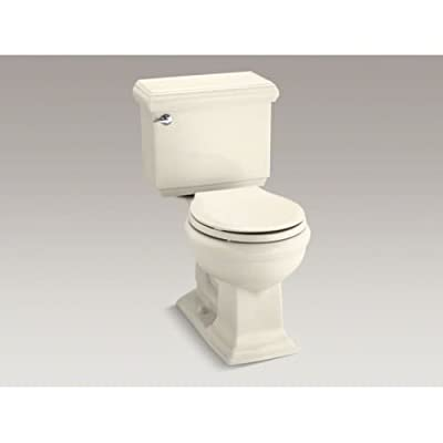 KOHLER Memoirs Classic Comfort Height Two-Piece Round-Front 1.28 Gpf Toilet with Aquapiston Flush Technology