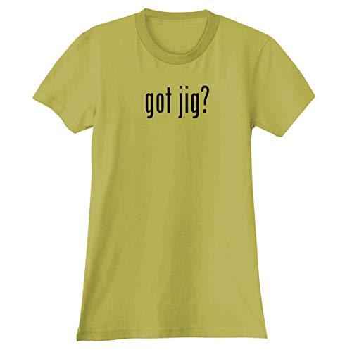 (The Town Butler got jig? - A Soft & Comfortable Women's Junior Cut T-Shirt, Yellow, X-Large)