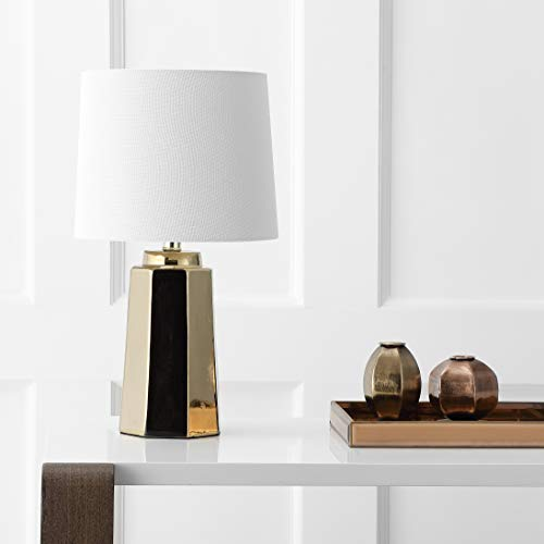 Safavieh TBL4089A Lighting Collection Parlon Plated Gold Table Lamp,