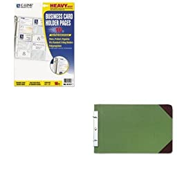 KITCLI61217WLJ27832 - Value Kit - Wilson Jones Canvas Sectional Post Binder (WLJ27832) and C-line Business Card Binder Pages (CLI61217)