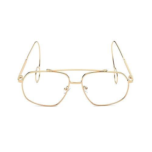 Elegante Gafas metal Unisex sol Elegante para Personalidad gafas de Elegantes Unisex Retro UV Marco sol de Protección sol sol Gafas Pendientes Estilo Gafas de fino de Hombre Delicadas de Oro lisas mujeres qaTFwx0w