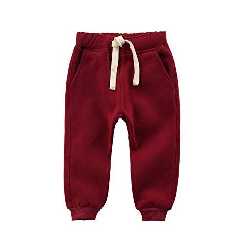 Sweatpants Mish Mish - KAOKAOO Baby Pants Baby Boys Pants Fashion Long Pants Casual Trousers (Wine-80cm(18 Months))