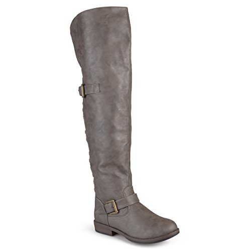 Journee Collection Womens Studded Over-The-Knee Inside Pocket Buckle Boots
